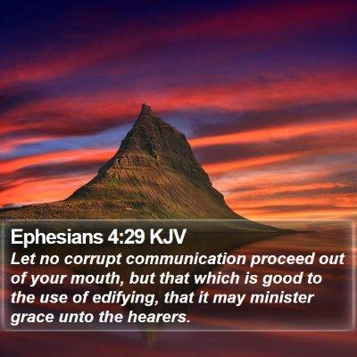 Ephesians 4:29 KJV Bible Verse Image