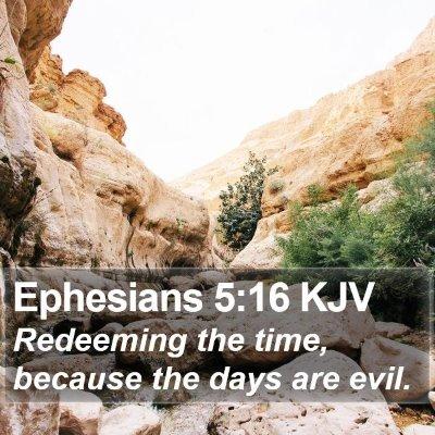 Ephesians 5:16 KJV Bible Verse Image