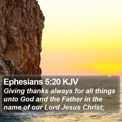 Ephesians 5:20 KJV Bible Verse Image