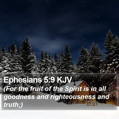 Ephesians 5:9 KJV Bible Verse Image