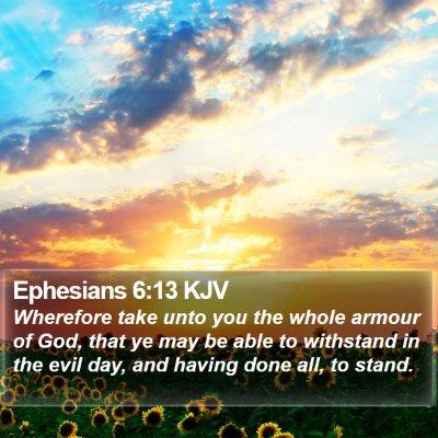 Ephesians 6:13 KJV Bible Verse Image