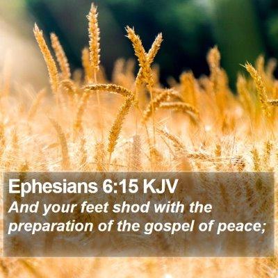 Ephesians 6:15 KJV Bible Verse Image