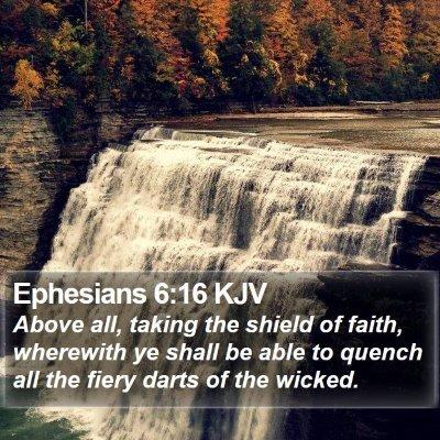 Ephesians 6:16 KJV Bible Verse Image