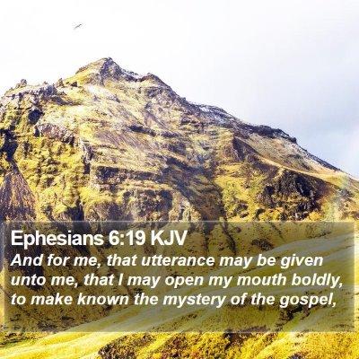 Ephesians 6:19 KJV Bible Verse Image