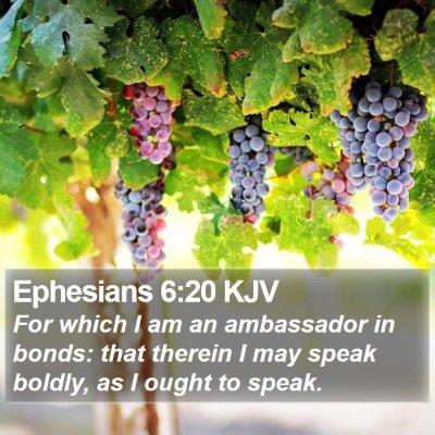 Ephesians 6:20 KJV Bible Verse Image