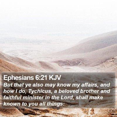Ephesians 6:21 KJV Bible Verse Image
