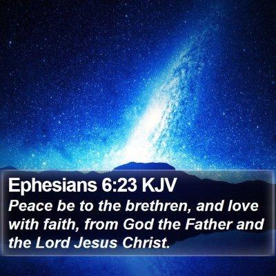 Ephesians 6:23 KJV Bible Verse Image