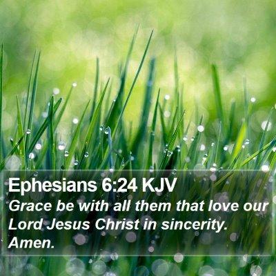 Ephesians 6:24 KJV Bible Verse Image