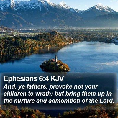 Ephesians 6:4 KJV Bible Verse Image