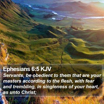 Ephesians 6:5 KJV Bible Verse Image