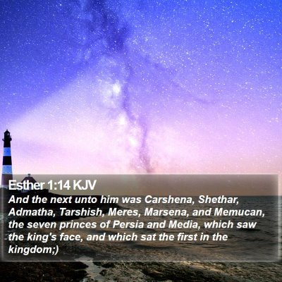 Esther 1:14 KJV Bible Verse Image