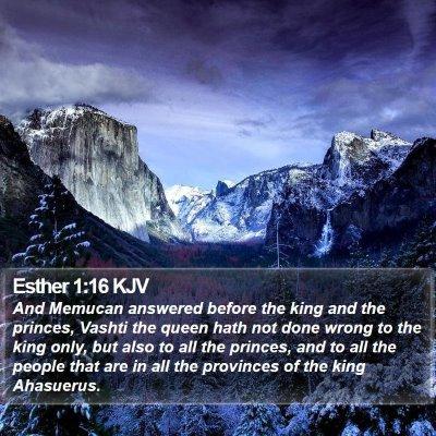 Esther 1:16 KJV Bible Verse Image