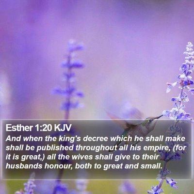 Esther 1:20 KJV Bible Verse Image