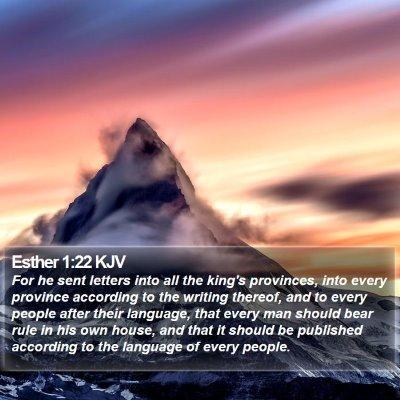 Esther 1:22 KJV Bible Verse Image