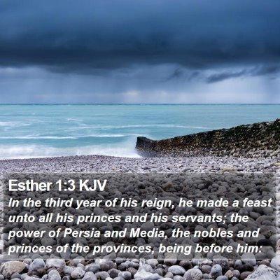 Esther 1:3 KJV Bible Verse Image