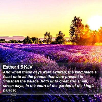 Esther 1:5 KJV Bible Verse Image