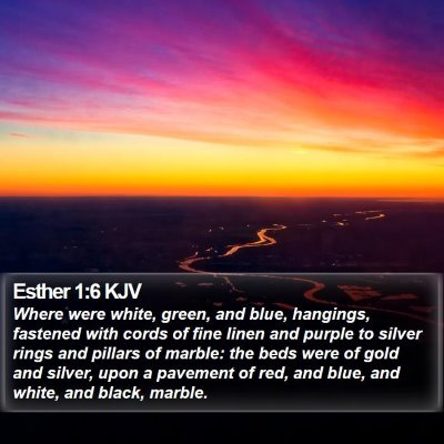 Esther 1:6 KJV Bible Verse Image