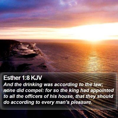 Esther 1:8 KJV Bible Verse Image