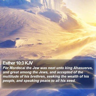 Esther 10:3 KJV Bible Verse Image