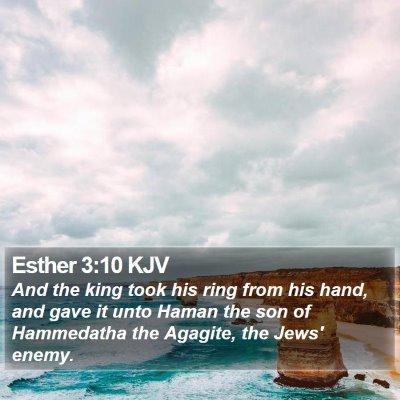 Esther 3:10 KJV Bible Verse Image