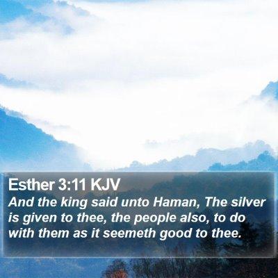 Esther 3:11 KJV Bible Verse Image