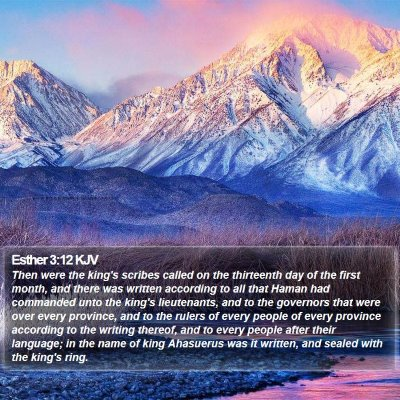 Esther 3:12 KJV Bible Verse Image