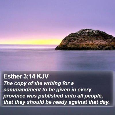 Esther 3:14 KJV Bible Verse Image