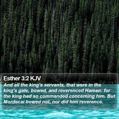 Esther 3:2 KJV Bible Verse Image