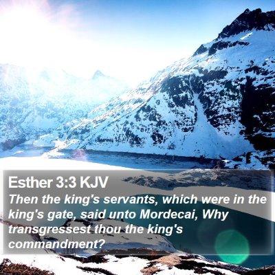 Esther 3:3 KJV Bible Verse Image