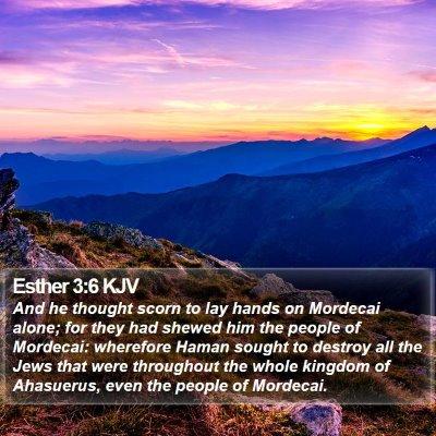 Esther 3:6 KJV Bible Verse Image
