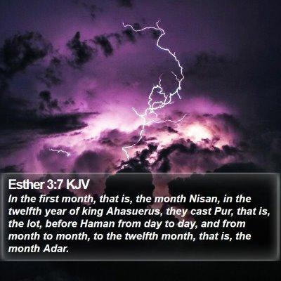Esther 3:7 KJV Bible Verse Image