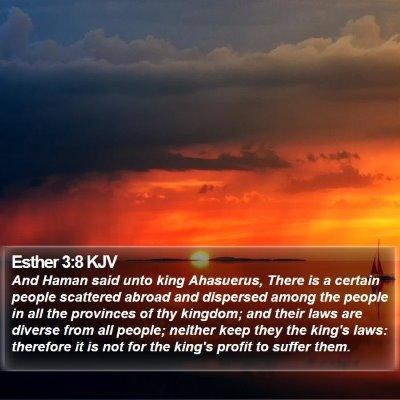 Esther 3:8 KJV Bible Verse Image