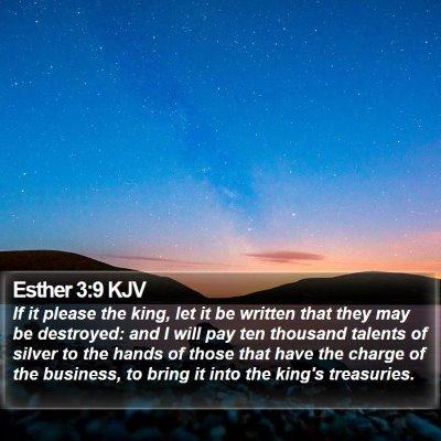 Esther 3:9 KJV Bible Verse Image