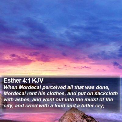 Esther 4:1 KJV Bible Verse Image
