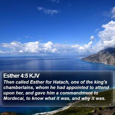 Esther 4:5 KJV Bible Verse Image