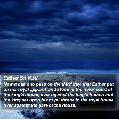 Esther 5:1 KJV Bible Verse Image