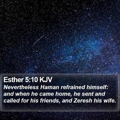 Esther 5:10 KJV Bible Verse Image