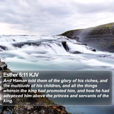 Esther 5:11 KJV Bible Verse Image
