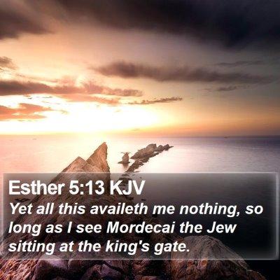 Esther 5:13 KJV Bible Verse Image
