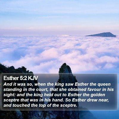 Esther 5:2 KJV Bible Verse Image