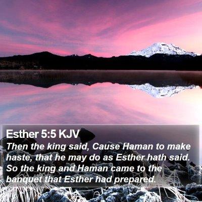 Esther 5:5 KJV Bible Verse Image