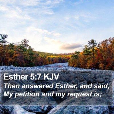Esther 5:7 KJV Bible Verse Image