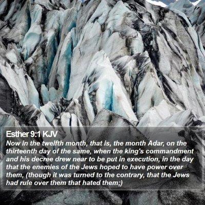 Esther 9:1 KJV Bible Verse Image