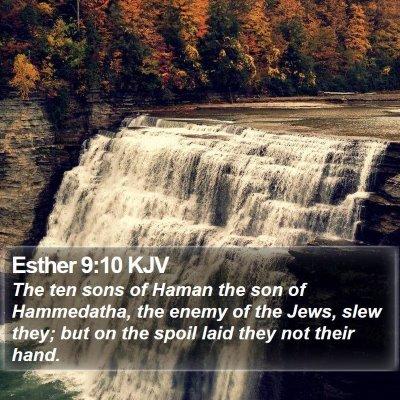 Esther 9:10 KJV Bible Verse Image