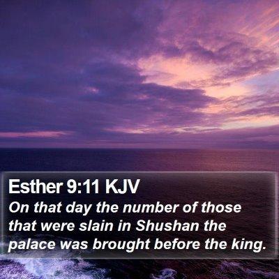 Esther 9:11 KJV Bible Verse Image