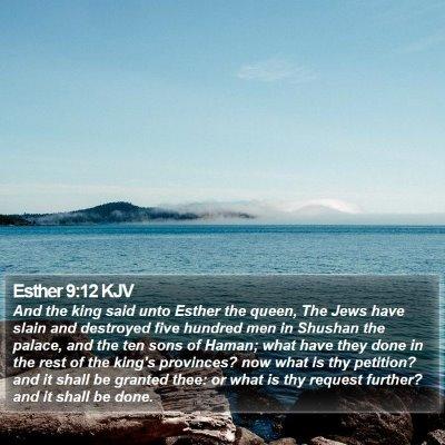 Esther 9:12 KJV Bible Verse Image
