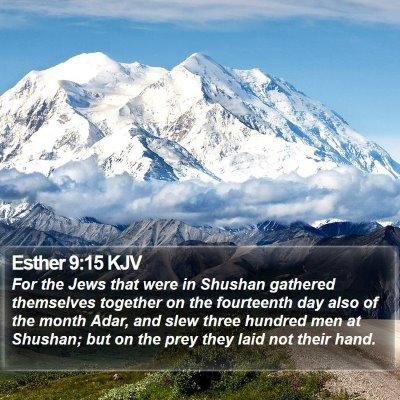 Esther 9:15 KJV Bible Verse Image