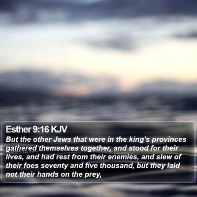 Esther 9:16 KJV Bible Verse Image