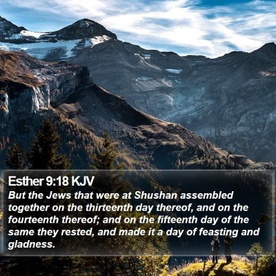 Esther 9:18 KJV Bible Verse Image