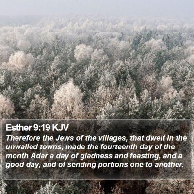 Esther 9:19 KJV Bible Verse Image